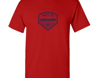 Made in Mississippi T Shirt - Red
