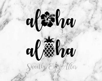 Car Custom Aloha Etsy - Custom vinyl decals hawaii