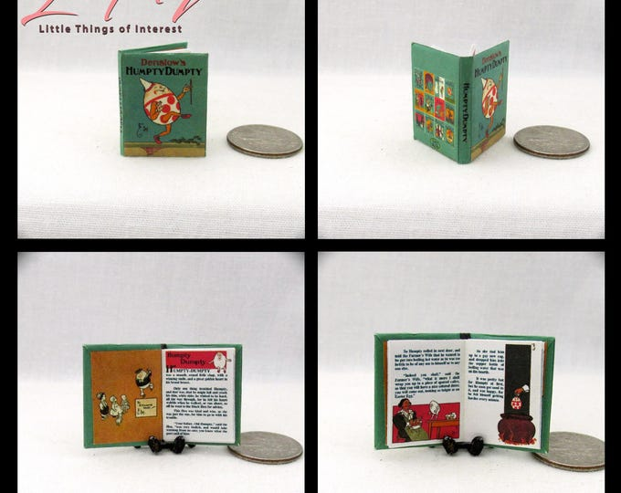 Miniature Book -- HUMPTY DUMPTY 1:12 Scale Dollhouse Book Colorful Illustrated Book Denslow Children's Book