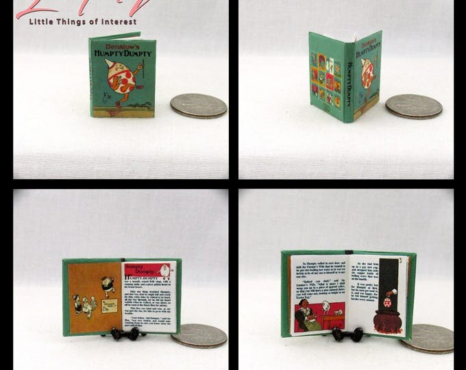 HUMPTY DUMPTY 1:12 Scale Dollhouse Book Colorful Illustrated Book Denslow Children's Book