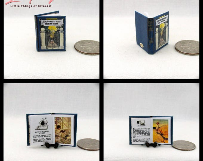 A CHILDREN'S GARDEN Of Verses Miniature Book Dollhouse 1:12 Scale Illustrated Book 1905 by Robert Louis Stevenson