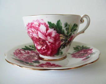 Royal Standard Fine Bone China Teacup, Cup and Saucer, Amethyst, 434, Made in England