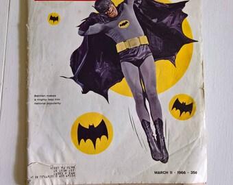 Vintage Adam West Batman Life Magazine March 1966 --- Retro American Superhero Television Show --- 1960's Pop Culture Home Decor Ephemera