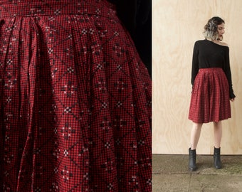 Valentines Day Skirt Vintage Red circle round 50's pin up Cherry Bomb Red small medium