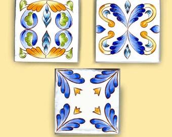 Deco tiles for backsplash, Unique tiles, Hand painted tiles, Murals, Individual tiles, Decorative tiles, Porcelain indoor and outdoor tiles.