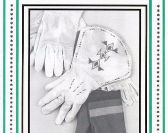 Leather Gloves, Traditional Gauntlets, Leather Mittens, Fur Backed Mittens & Cloth Mittens sizes S-L Eagle's View Sewing Pattern # 52