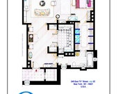 Poster of Carrie Bradshaw's apartment from SEX & THE CITY movies