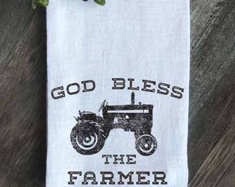 Famhouse Flour Sack Tea Towel, Farmhouse Kitchen Towel, Farmhouse Decor, Vintage Decor, Vintage Farmhouse