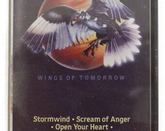 Vintage 80s Europe Wings of Tomorrow Heavy Metal Album Cassette Tape