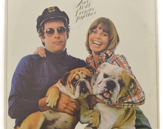 Vintage 70s The Captain & Tennille Love Will Keep Us Together Pop Album Record Vinyl LP