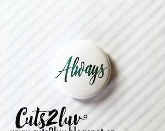 "Badge 1"" Always métallique turquoise"