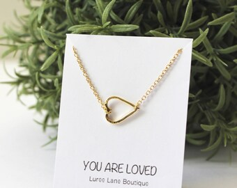 Heart necklace/ Small Heart pendant/ Tiny Heart necklace /Heart jewelry/Gold heart necklace/Silver heart necklace/Gift for her/Birthday gift
