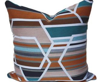 Maharam Agency Sienna pillow cover, multicolor pillow cover, modern pillow covers, geometric pillow covers, designer pillow cover