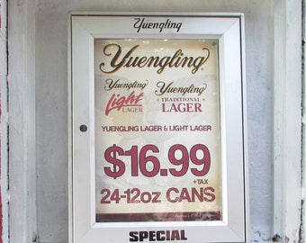 "Rare Find ""Yuengling SPECIAL""  Metal Advertising Display / Cabinet. Ad is Protected in Cabinet."