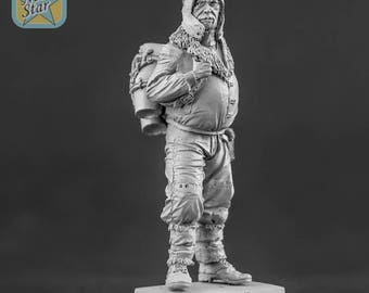 54mm Dieselpunk pilot with jet pack