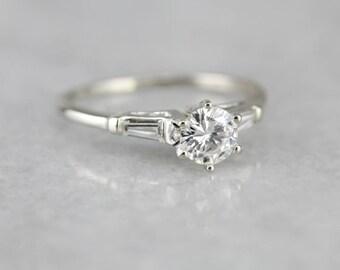 Traditional Diamond Engagement, White Gold Diamond Ring, Engagement Ring, Round Brilliant EFT088-P