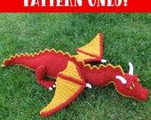 CROCHET PATTERN. Crochet Stuffed Dragon Toy / Stuffie / Softie Pattern (PDF File)