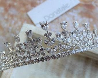 ON SALE   Bridal crown , Bridal  Tiara, Wedding hair piece ,  Crystal Crown , Wedding Hairpiece , Bridal headpiece , Diamante Crown