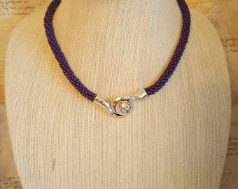 The Color of Purple Kumihimo Necklace