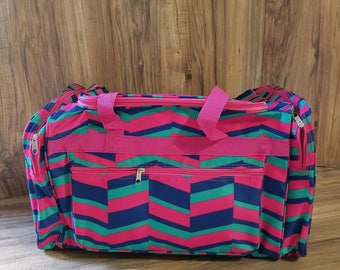Monogrammed Duffle Bag, Pink Duffle, Overnight Bag, Gym Bag, Monogrammed Cheer bag, Monogrammed luggage,Carry on Bag, SHIPPING INCLUDED