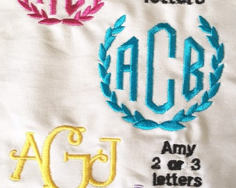 Custom Monogram Pillow Cover Monogram Pillow Cover 16 x 20 inch Monogram Pillow Cover Embroidered Lumbar Cushion Cover Monograms Embroidery