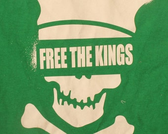 FREE THE KINGS ; Small Green 2013 Tour T Shirt
