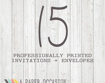 15 Professionally Printed Invitations