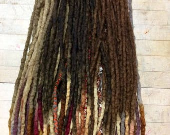 Wool Dreads Hair Extensions Wool Dreadlocks set of 60 Dreadlock