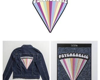 Psychedelic Letters Embroidered Sticker Patch Set Spaced Out Collection