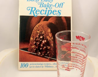 Pillsbury Busy Lady Bake Off Recipes Cookbook 1966 Food Lithographs Advertising Ephemera