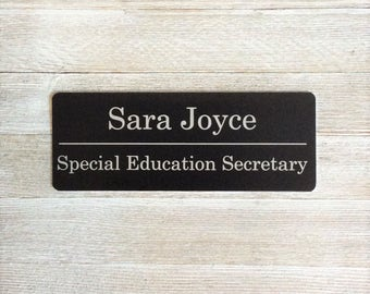 "Metal name plaque, Metal name plate, Office Door sign, name plaques, office sign, Metal 8 x 3"", plaque, laser engraved, custom, personalized"