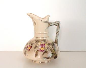 Vintage German Ceramic Pitcher, Creamer, Made in Germany, Forest decoration