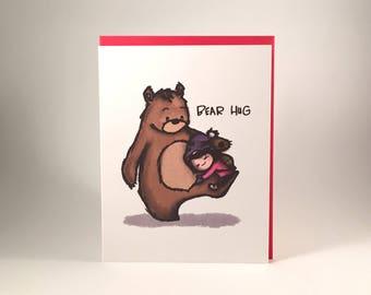 Card - BEAR HUG