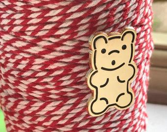 Yummy Bear Gold Enamel Pin