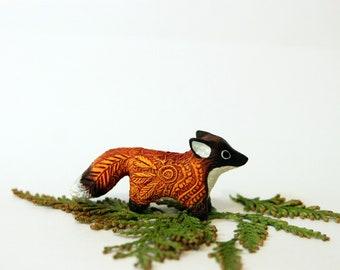 Red Fox Totem Figurine, Animal Miniature