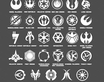 Star Wars Symbols Crests decals