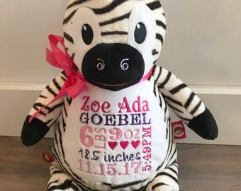 Cubbies Embroidered Zebra