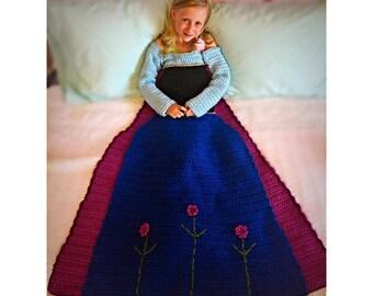 Anna Crochet Princess Dress Blanket PATTERN