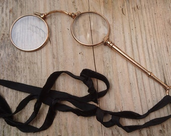 Antique folding Lorgnette glasses