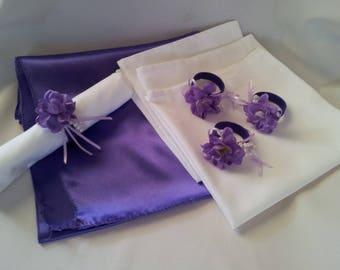 Napkin Rings, Polyester Table Napkin Set
