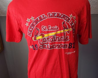 Vintage Short Sleeve St. Louis Cardinals Baseball T Shirt by Logo 7