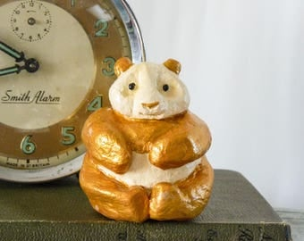 Gold & Cream Panda Sculpture