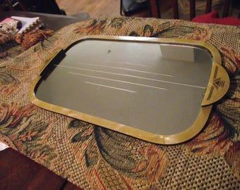 Vintage Mirrored Dresser Tray