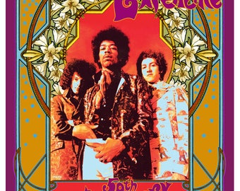 Jimi Hendrix 50th anniversary Are You Experienced poster