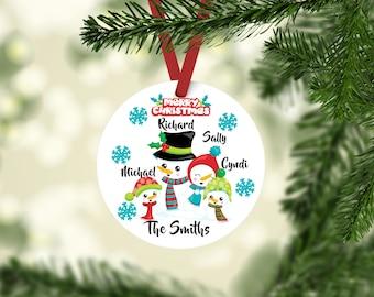 Family Ornament, Christmas Ornament, Personalized, Ornament, Personalized Gift, Custom Ornament, Personalized Family,  Family Ornaments