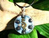 Hematite Orgone Pendant - Kokopelli - Root Chakra Healing Lightworker Jewellery - Medium