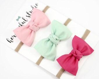 Baby Easter Headband, Baby Bow Headband, Baby Accessories, Bow Headband Set, Baby Headband Set, Baby Girl Bow Headband, Newborn Hair Bows,