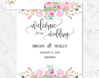Wedding Signs, DIY Wedding Template Welcome Sign Printable, Welcome Wedding Signs Wedding Sign PDF Wedding Printable, Wedding Reception Sign
