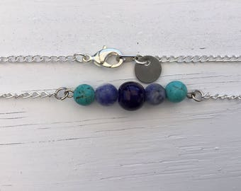 """Beaded Bar Necklace- """"Wave"""""""