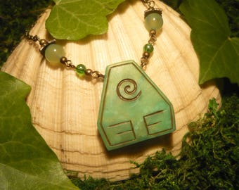 Element Earth - handcrafted Necklace - Avatar The last Airbender, Legend of Korra